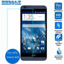 For HTC Desire 626 Dual Sim Tempered Glass Film 2.5 9h Safety Protective Screen Protector on 626s D626W D626n D626d 626G+ 4G Lte(China (Mainland))