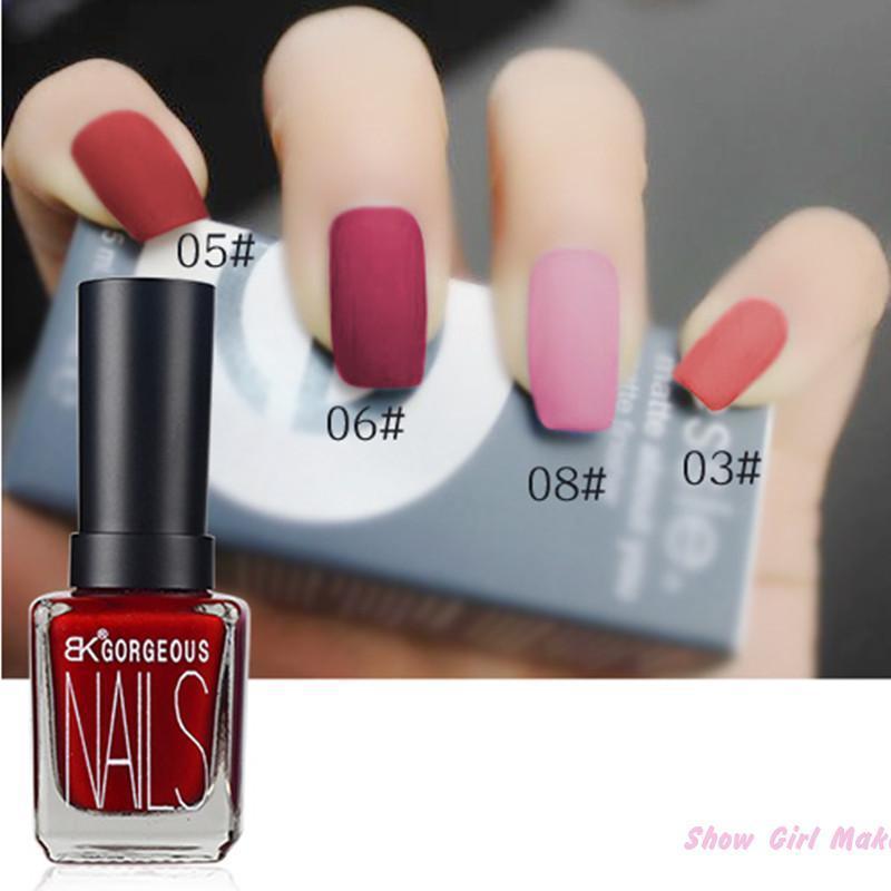 1pcs Bk Character Matte Gel Nail Polish Lasting Shine 15ml Nail Art Black White 12 color Nail Polish(China (Mainland))