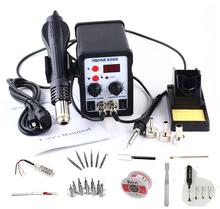 Youyue 8586 AC 110 V/220 V 700 Watt 2 in 1 SMD Rework Lötstation Heißluftpistole Lötkolben mit Gratis Geschenke für Schweißen Reparatur(China (Mainland))