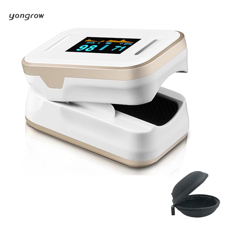 yongrow Oximetro Pulse Oximeter De Pulso De Dedo Fingertip Pulse Oximeter Golden Color Pulsioximetro Oled Heart Rate Monitor(China (Mainland))