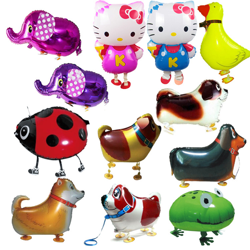10PCS/lot Foil Balloon Walking Animal Elephant Dog Frog KT Balloons Pet Toy Party Birthday Balloon Kids Classic Toys B220(China (Mainland))