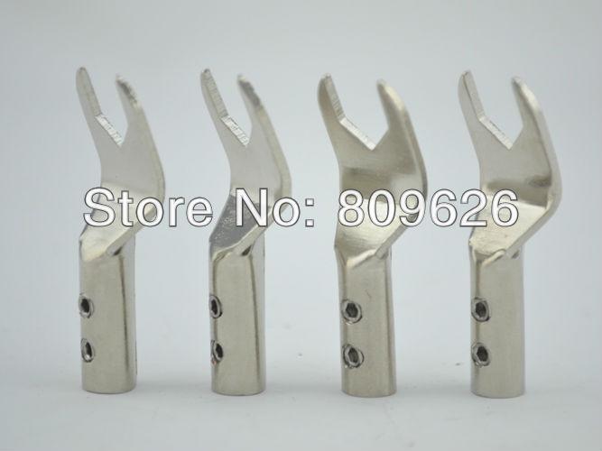 Hi-End Rhdium plated Speaker Cable Spade Plug - Shenzhen AudioCrast Technology Co., Ltd. store