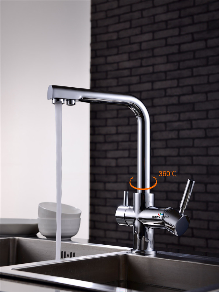 kitchen sink mixer faucet 2 holes drinking water tap from reliable