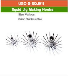 stainless steel squid jig hooks