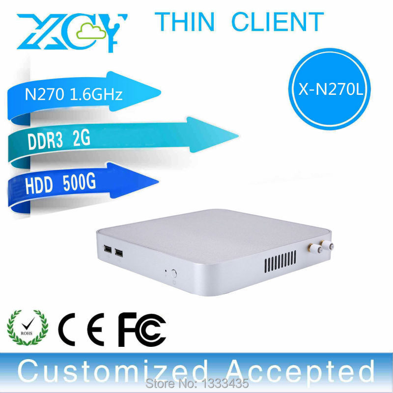 Intel N270 Atom Single Core Industrial Computer Fanless Diy Computer Mini Desktop Computer 2g Ram 500g Hdd Mini Pc Thin Client(China (Mainland))