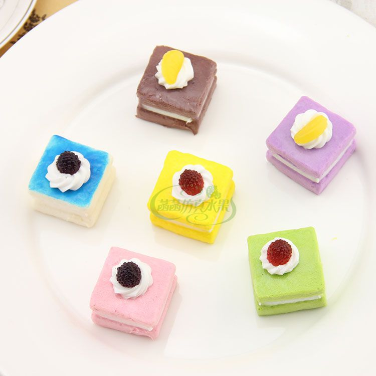 Artificial Cake Model Set Home Decoration Exhibition Children Teaching Props Artificial cake(China (Mainland))