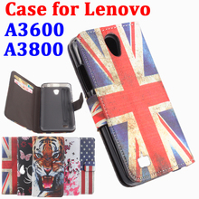 High Quality Leather Cases Painted For Lenovo A3600 A3800 Case Transverse Flip Covers For A 3600 Cover LenovoA3600 A 3800 Shell