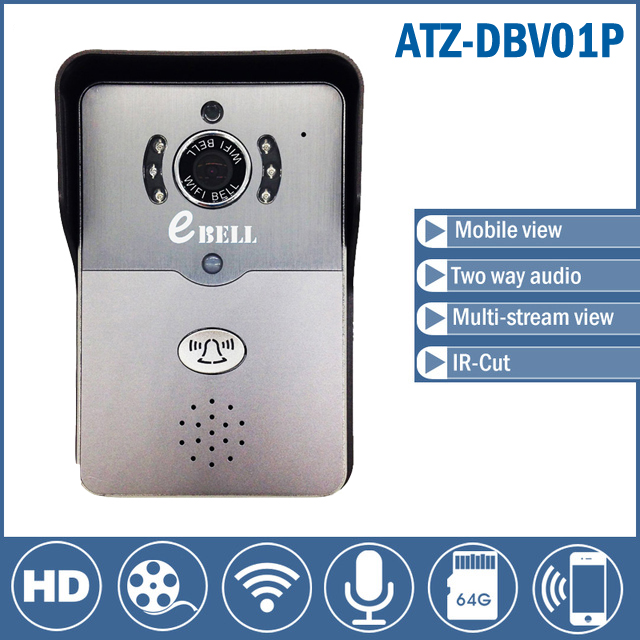 Wifi video door phone doorbell Wireless Intercom Support 3G 4G IOS Android for <font><b>iPad</b></font> Smart Phone Tablet Control support <font><b>64GB</b></font> Card