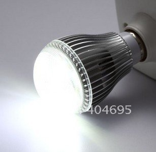 50pcs E27 7W high power LED energy-saving lamp / 7*1w LED bulbs light pearl point pc case