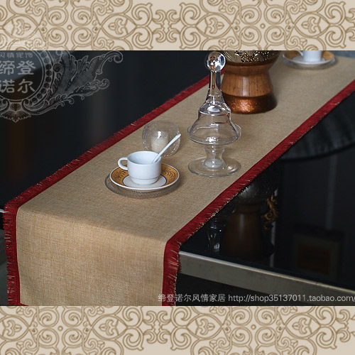 Luxury brief fashion modern table cloth table runner take the towel bed flag set linen fabric 14 personalized customize