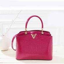 Designer Ladies Handbags High Quality PU Woman Bags Leather Luxury Women Tote Big Shoulder Bag Zipper2015Elegant