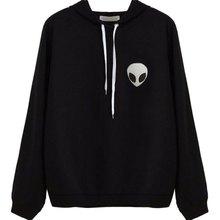 Buy New Autumn Casual Wear Pullovers Hoodies Women Clothing Alien Print Hooded Long Sleeve Fashion Sweatshirt Plus Size WD 08 ) for $4.51 in AliExpress store