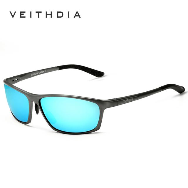 Поляризованные солнцезащитные очки из алюминиевого сплава. Мужские линзы. Зеркальные ...