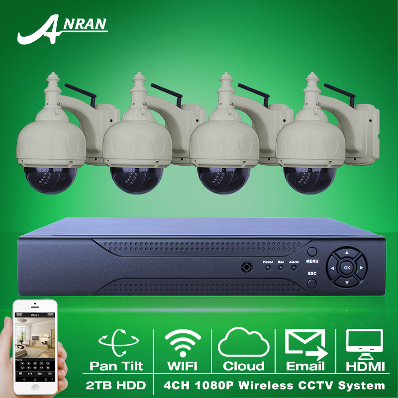 2TB HDD 8CH NVR Wireless CCTV System Onvif 1080P H.264 Pan Tilt HD Home Security WIFI IP Camera Surveillance System(China (Mainland))