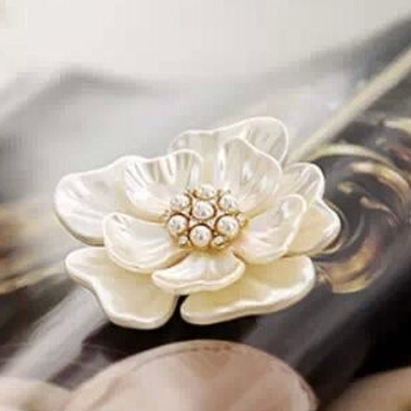 Vintage Style Wedding Bridal Bouquet 18K Gold Plated Flower Brooch Pin lady Jewelry Statement Fine Jewel(China (Mainland))