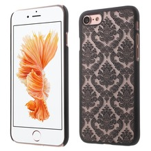 Vintage PC Frosted Cases For Apple iphone 7/7 Plus Hollow out Flower Pattern Cover Hard Plastic Shell Matte Mobile Phone Bags