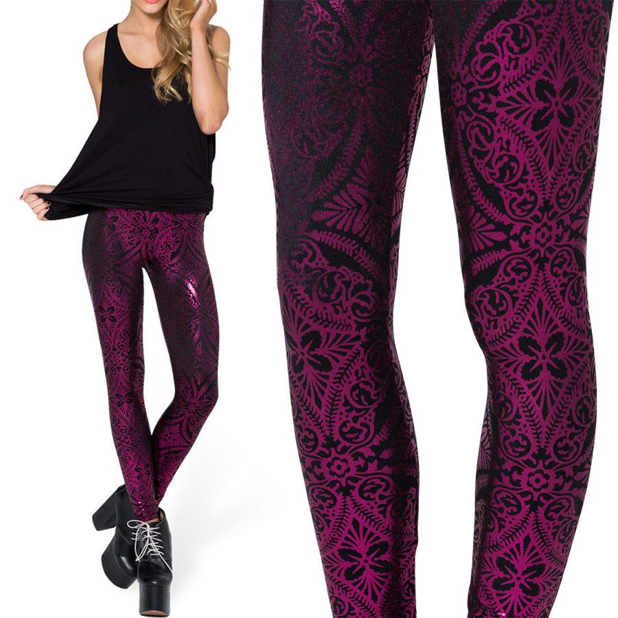 women winter leggings 2014 new pink geometric floral printed legging for women casual leggings s. Black Bedroom Furniture Sets. Home Design Ideas