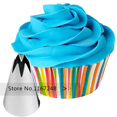 2110 1M Nozzle Cake Decorating Tips Stainless Steel Writing Tube Icing Nozzle Baking Pastry Tools