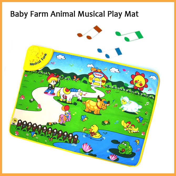 Musical Sound Animal Farm Baby Carpet Play Mat Gym Blanket Touch Toys Kids Baby Toy Gifts Brinquedos(China (Mainland))