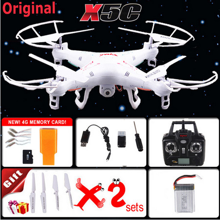 100% Original 2.4G 4CH 6-Axis SYMA X5C Upgrade X5A Toys RC Helicopter with 2MP HD Camera or without camera Quadrocopter Drone(China (Mainland))