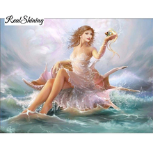 Buy 3D Diamond Painting Sea Girl Full Square Home Decoration Cross Stitch Resinstone Handicraft Embroidery Mosaic RS482 for $7.35 in AliExpress store