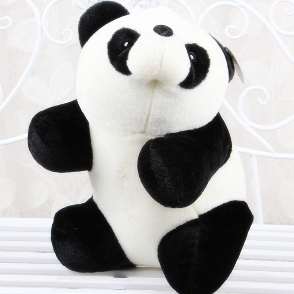 18cm new soft paddle panda doll giant panda plush model toys kids gift free shipping(China (Mainland))