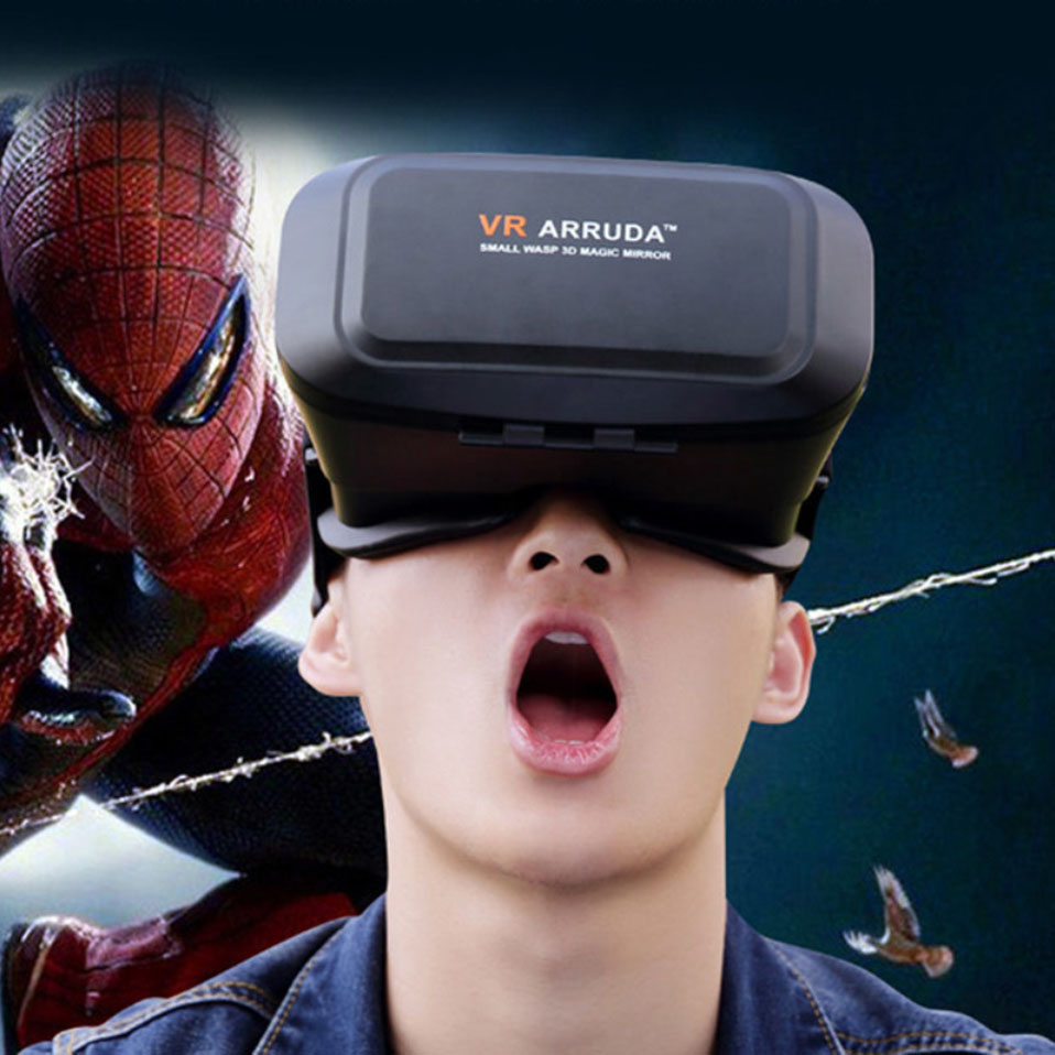 Head Mount Reality Version 3D VR Virtual Reality Glasses Google Cardboard Movies Games for 4.0 to 6 inch For iphone Android <br><br>Aliexpress