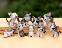Multi Color Micro Cute Kitty Mini Chis Chi Sweet Home Figures Dolls Youhei Cat Kitten Emoticon Emoji Decoration Model Toys 9pcs(China (Mainland))