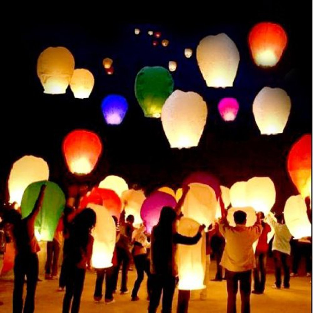 Flying Wishing Lamp Hot Air Balloon Kongming Lantern Cute Sky Lantern Party Favors For Birthday Party HH3(China (Mainland))