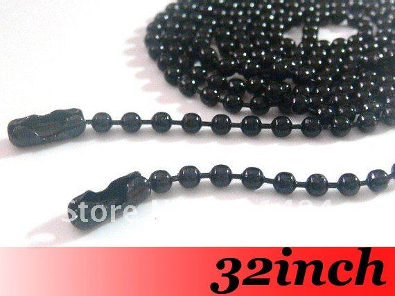 Free Ship! 100piece 1.5.mm 32 Gunmetal black Metal Ball Link Chain Necklace with Connector Jewelry DIY findings<br><br>Aliexpress