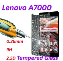 0.26mm 9H Tempered Glass screen protector phone cases 2.5D protective film For Lenovo A7000 5.5-inch
