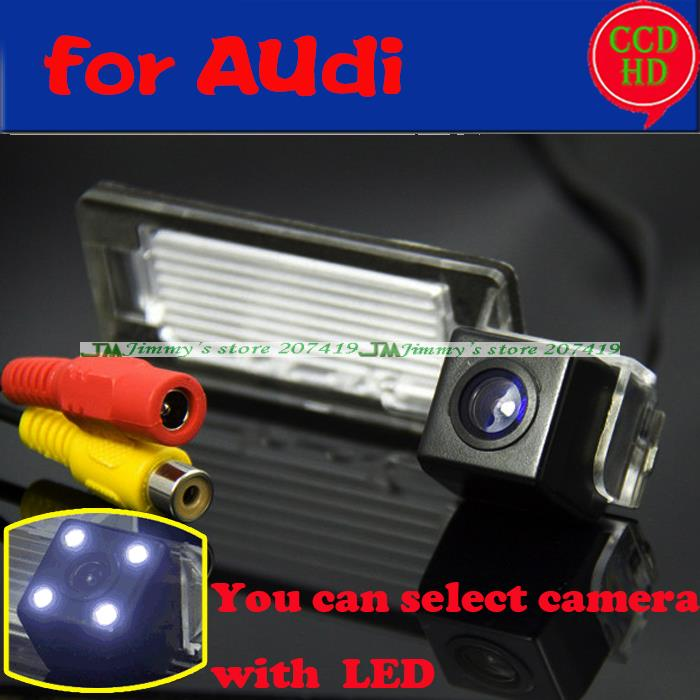 ast shipping backup reverse parking car rear view camera for sony ccd Audi A5 Q5 TT A4L wired wireless camera with LEDS(China (Mainland))