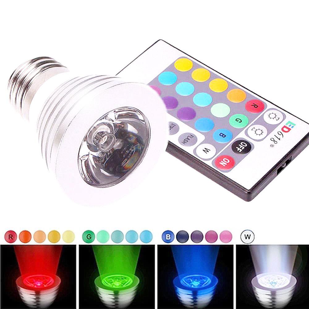 3W E27 16 Color LED RGB Magic Spot Light Bulb Lamp Wireless Brand New Remote Control RGB Magic Spotlight Bulb(China (Mainland))