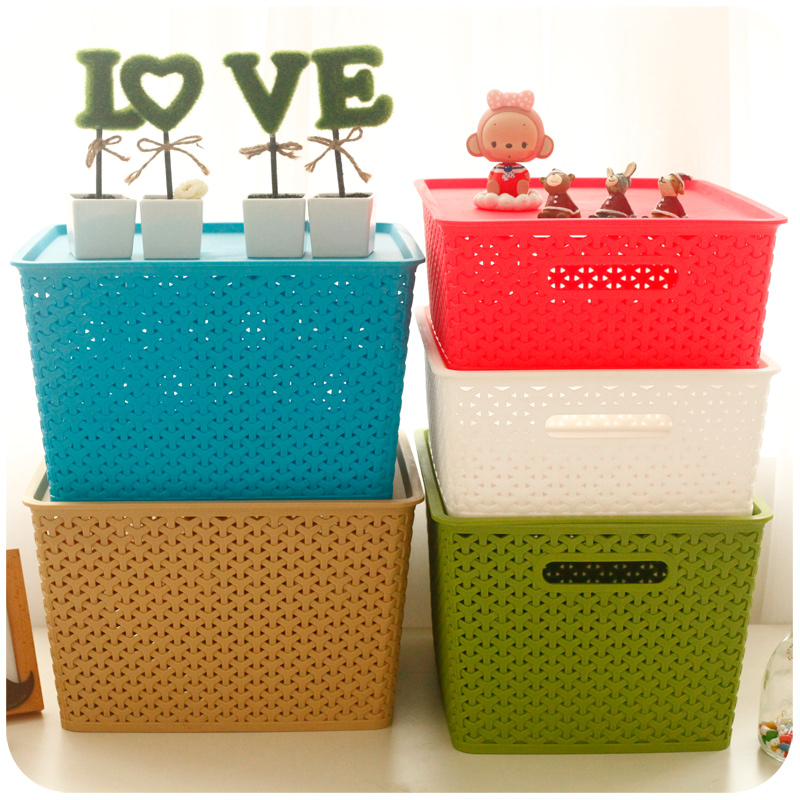 Hollowed out Plastic Organizer Storage Box for Clothes Toy Cosmetic used in Kitchen  Wardrobe Closet(China (Mainland))