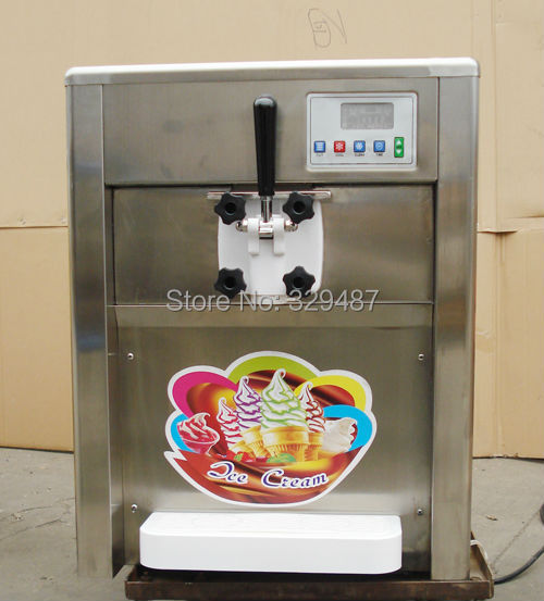 Commercial soft ice cream machine stainless steel frozen
