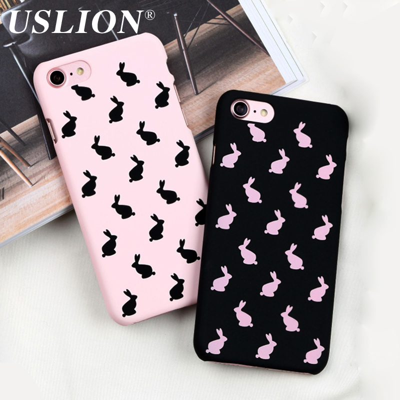 Cute Cartoon Frosted Phone Case iPhone 5 5s SE 6 6s 7 7 Plus Fashion Ultrathin Hard PC Back Cases Cover iPhone 7Plus