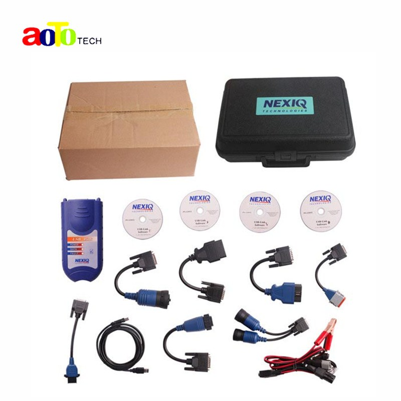 NEXIQ 125032 USB Link Software Diesel Truck Diagnostic Tool Professional Heavy Duty Scanner Nexiq USB With All Installer(China (Mainland))