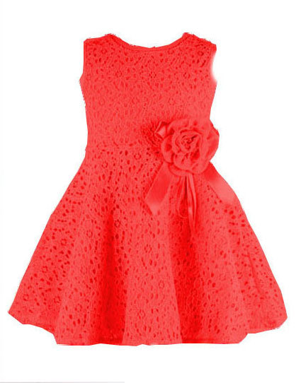 2015 summer style girl dress princess pageant boutique costume pierced flower baby girls vest dresses sleeveless kids clothes(China (Mainland))