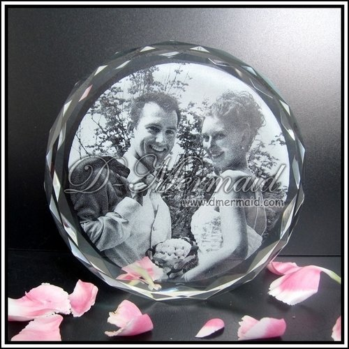 3D Laser Crystal Sunflower Photo Frame Wedding Gift
