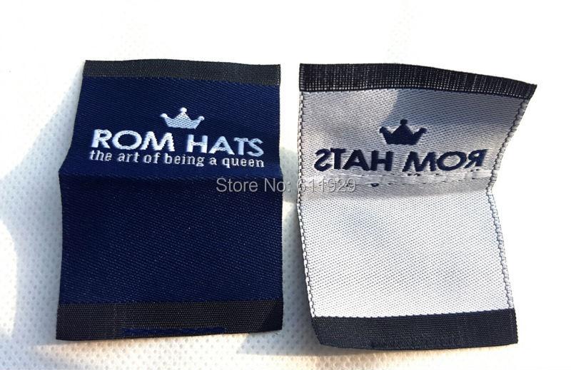 free shipping custom clothing shirt jacket woven labels/garment tags printing/logo brand name/embroidered main tag/collar label(China (Mainland))