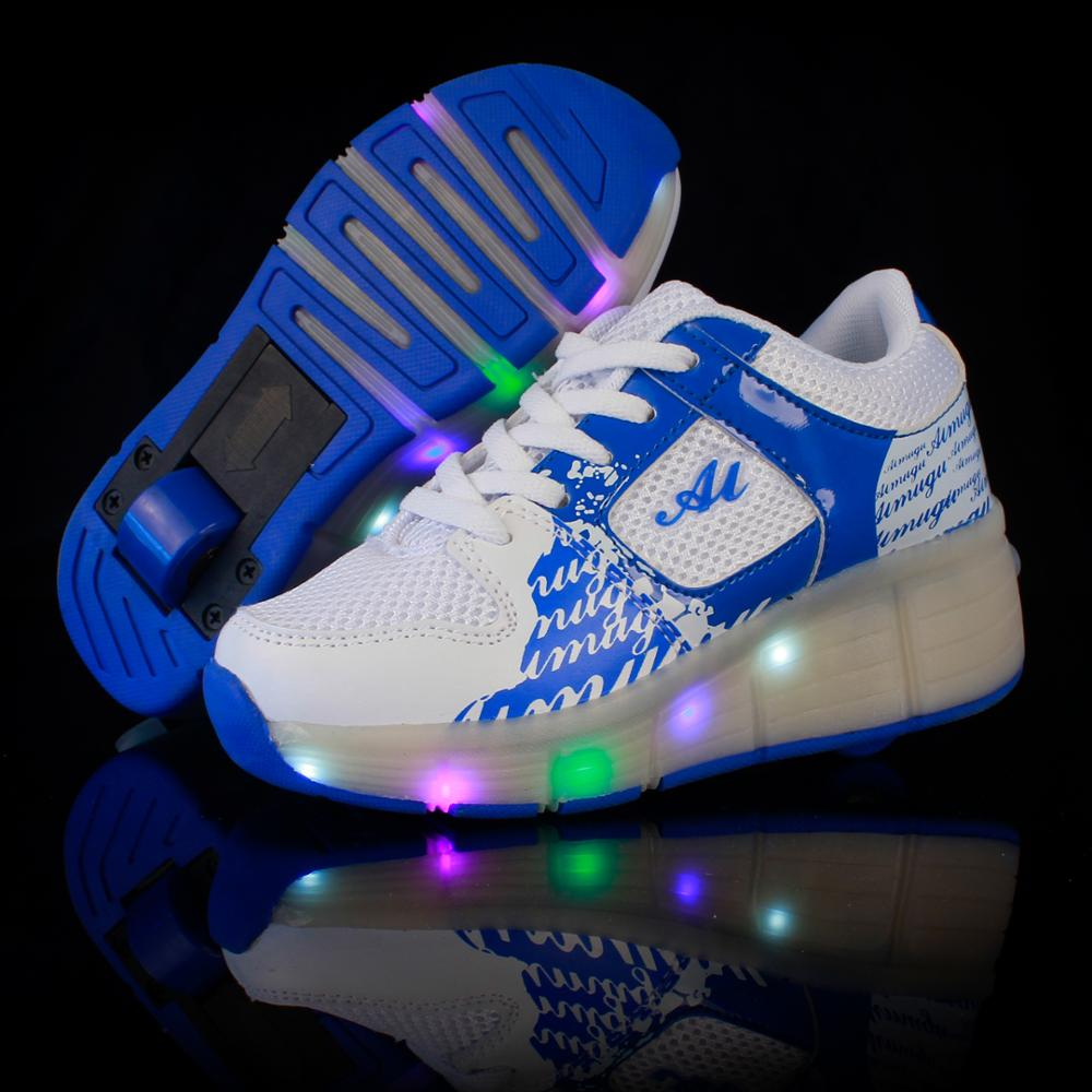 Roller shoes shop - New 2017 Child Wheely S Jazzy Led Light Heelyys Roller Skate Shoes For Children Kids Junior Girls Boys Sneakers With Wheels