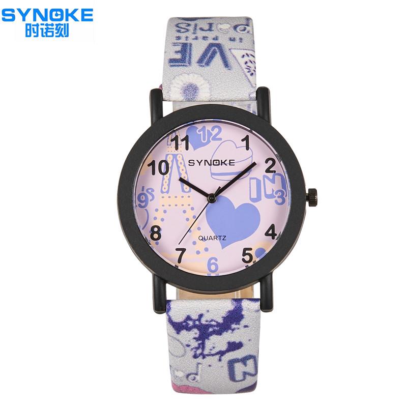 2016 SYNOKE100% Brand New Woman Quartz Wristwatches Simple And Girl Fashion Casual Watch Feminino Relogio(China (Mainland))