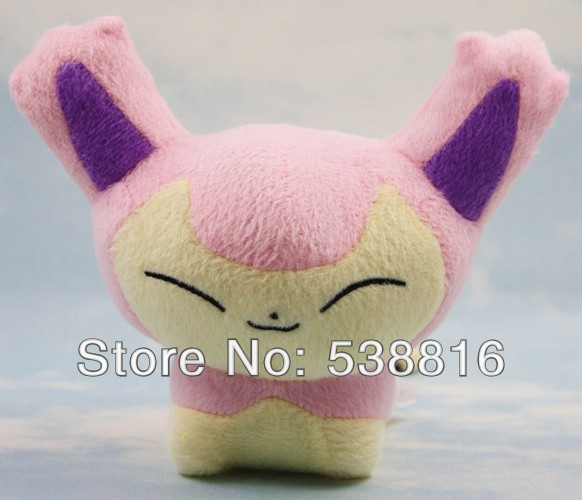 Wholesale and Retail one piece Japanese anime POKEMON plush toy doll 15cm Skitty Gift(China (Mainland))