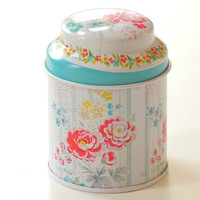 5X7CM NEW Gift flower iron box Multi Color Knot Suitable Coffee Tea Sugar Storage Tin Box And Line Drawing Style Kitchen