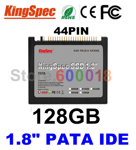 "L Kingspec 1.8"" inch PATA IDE 44PIN Solid State Disk ssd 128GB Internal Hard Drive Laptop For IBM X40 X41 X41T ,CE ROHS FCC(China (Mainland))"