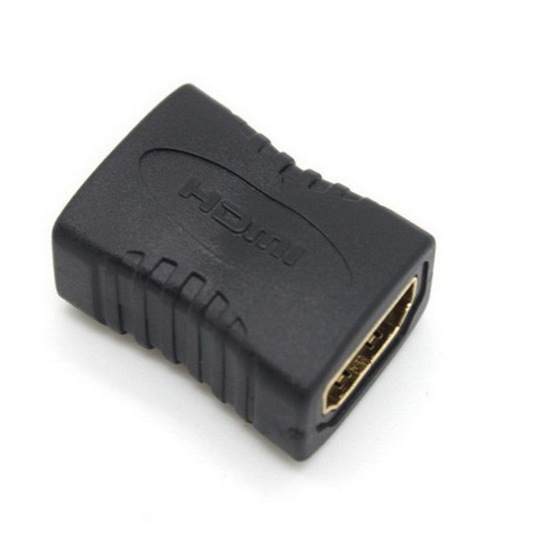 Hot Hdmi Female to Female F/f Coupler Extender Adapter Plug for Hdtv Hdcp 1080p Hdmi Cable Extension Connector Converter(China (Mainland))