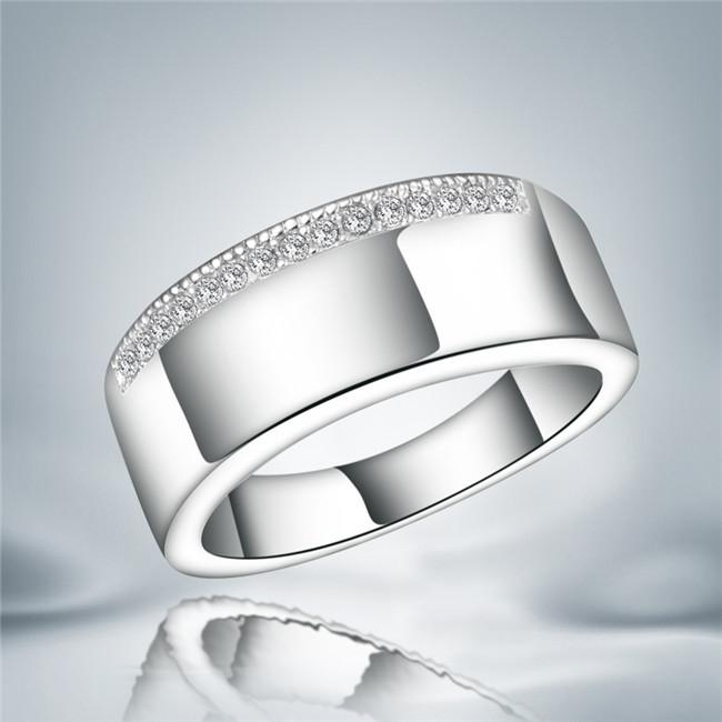 Free Shipping AliExpress High End Boutique Jewelry Wholesale 925 Silver Men CZ Diamond Buglary