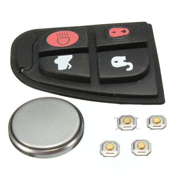Remote Key Fob Case Shell DIY Repair Kit Rubber Pad Set For Jaguar X Type XF E S 4 BNT<br><br>Aliexpress
