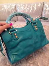 Free Shipping Top QUALITY Import Cowhide Leather lady Fashion Handbag Woman shoulder bag Fashion GOLD RIVETS