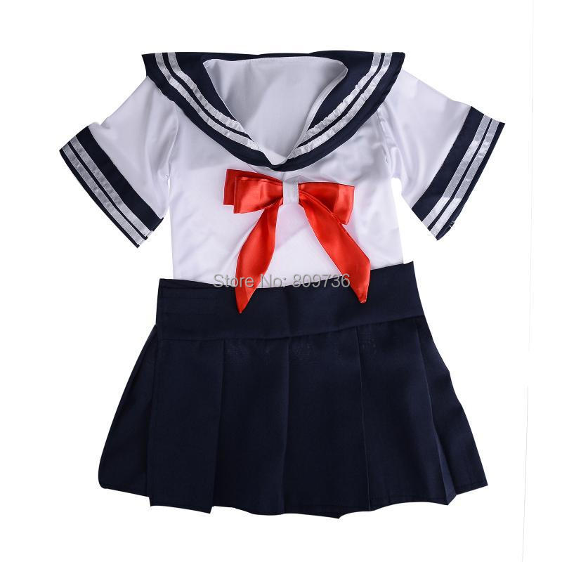 Japan School Girls Uniform Women Sexy Cosplay School Girl Costume Babydoll Dress Sapphire Sexy Costumes Drop Ship(China (Mainland))